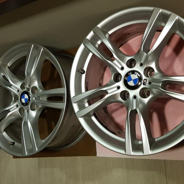 Bmw F30 18 400m Original M Sports Alloy Wheels Set Of 4 With All Original Bmw M Badges New Set Costs 3 000