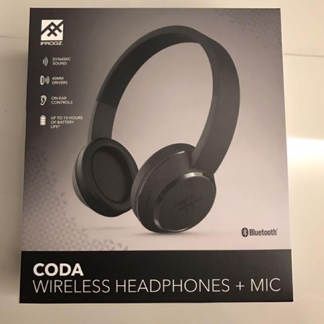 75531b3c0f9 Brand New] IFrogz Coda Wireless Headphones + Mic, Electronics, Audio ...