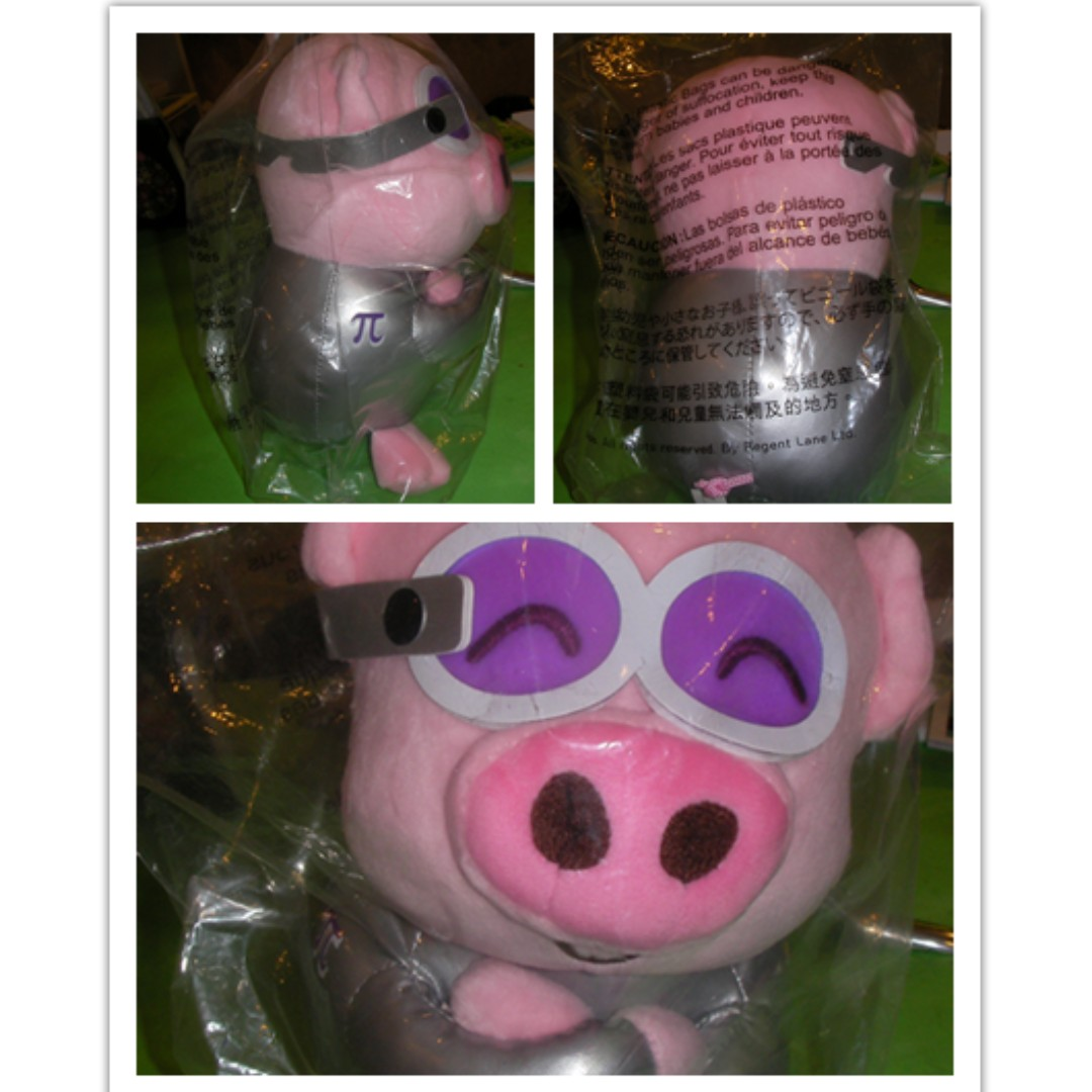 brand new pilot piggy stuff toys, @ in bag   size : about 20cm (H) x 12cm   cute and soft   good gift for both boys or girls, even you can sell them out again, super value   $5 each !!  great deal $18 for all 4pcs   shipping : $4/1pce, $9/4pcs