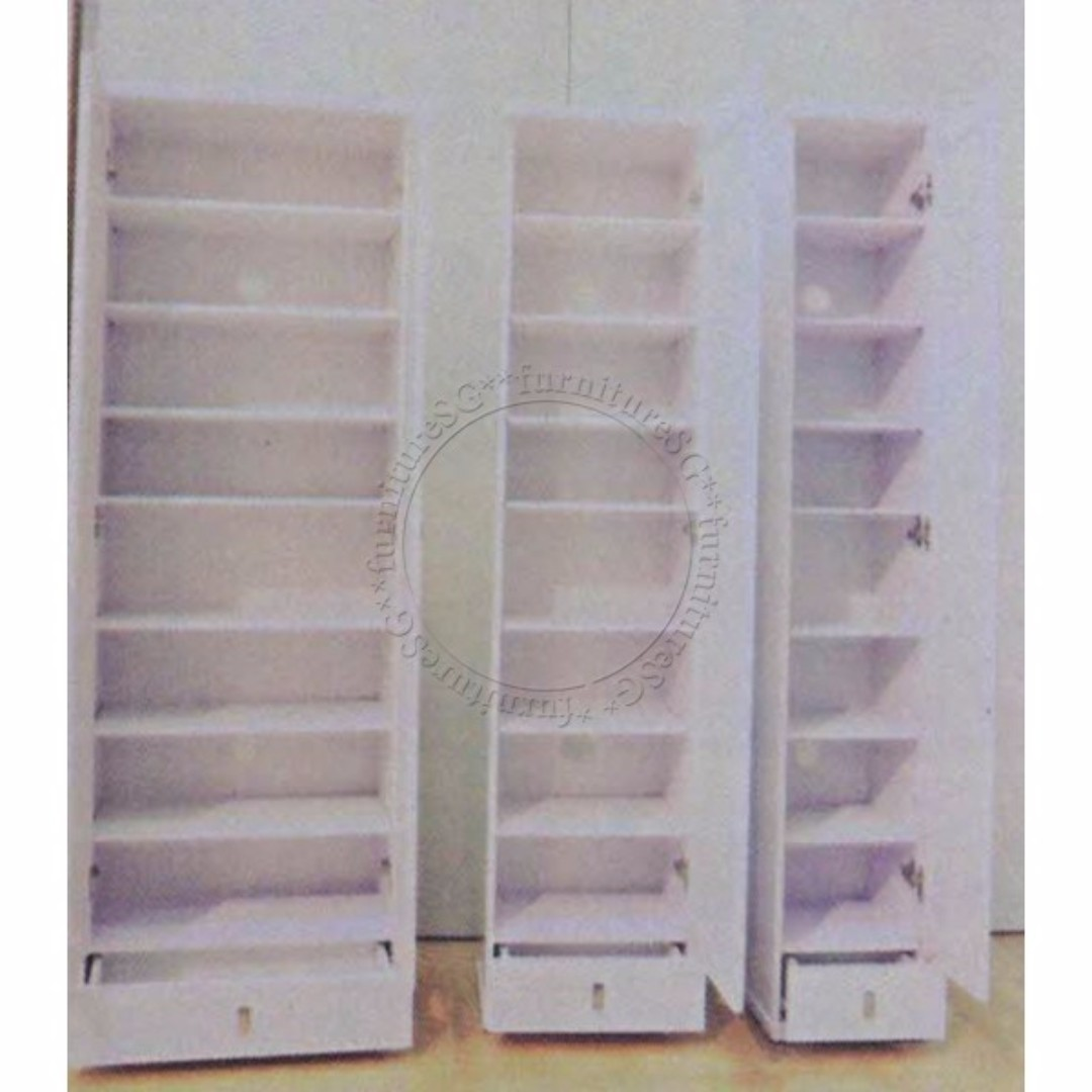nd New White Tall Shoe cabinet with mirror, Furniture, Shelves ...