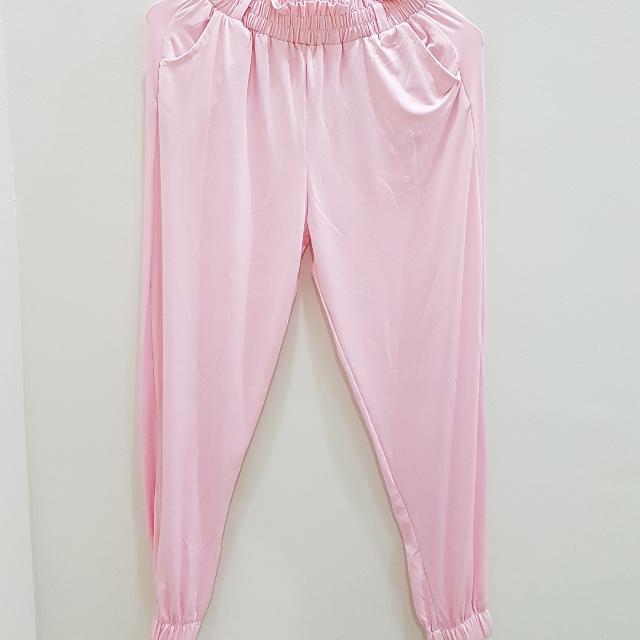 Celana Tidur Wanita Pink
