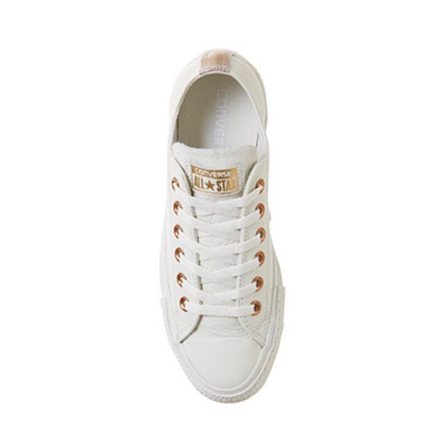 Converse All Star Low Leather Egret Rose Gold Snake Exclusive ... cca73f11e
