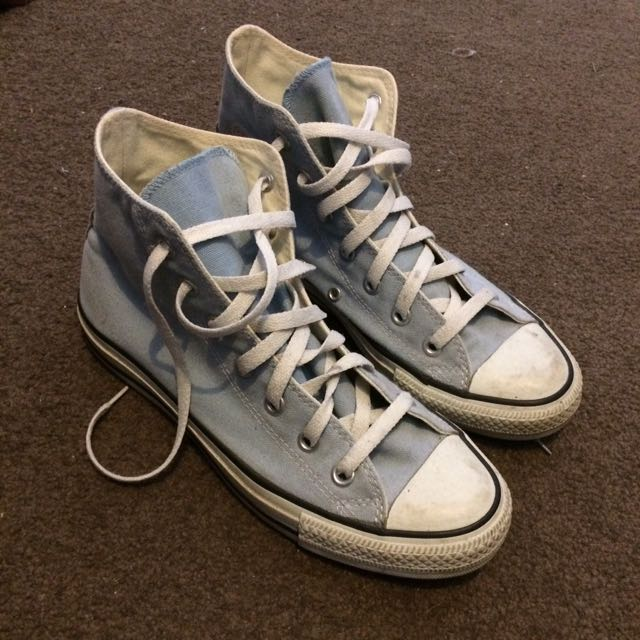 Converse High Tops Pale Blue