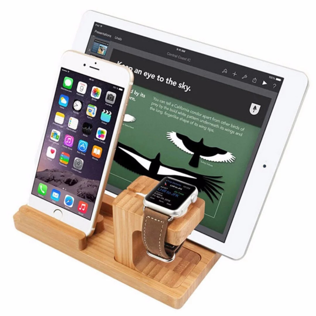 D Bamboo D001 Gadget Organizer Cum Usb Charging Station Mobile Phones Tablets Tablet Accessories On Carousell