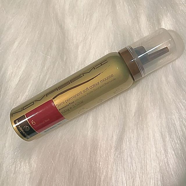 DE LORENZO Semi-permanent Soft Colour Mousse (Chestnut Red 06)