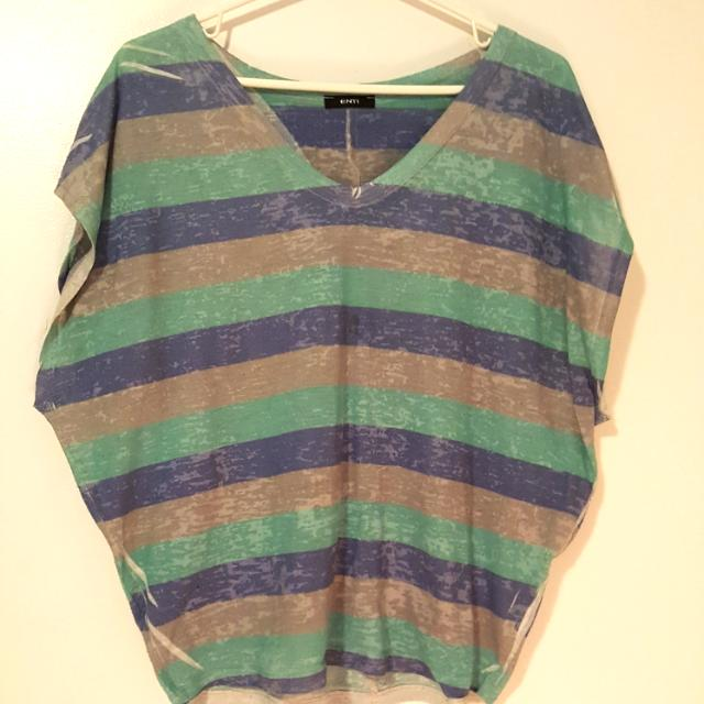 ENTI Stripe Tunic Shirt Size Small/Med