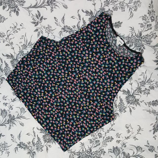 Flowered Crop Top