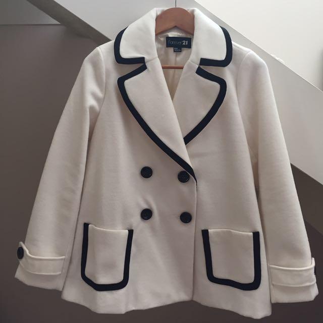 Forever 21 White Coat