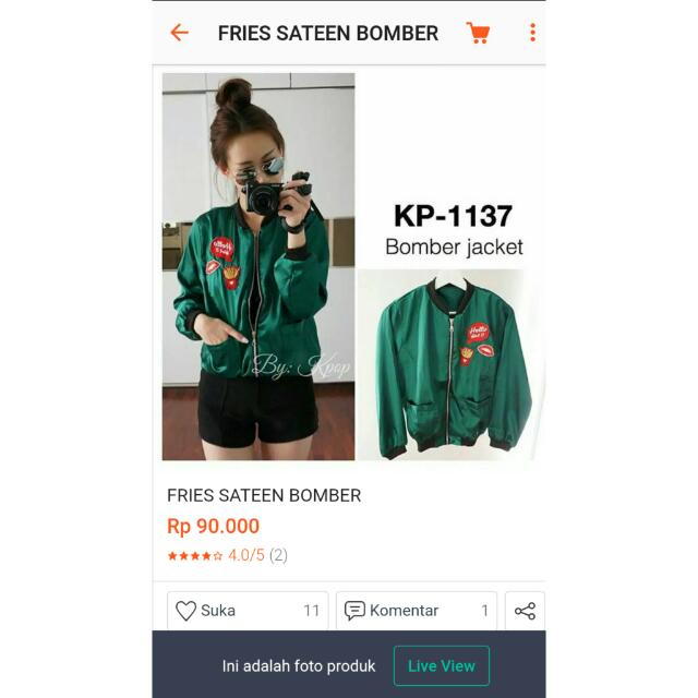 Fries Sateen Jaket