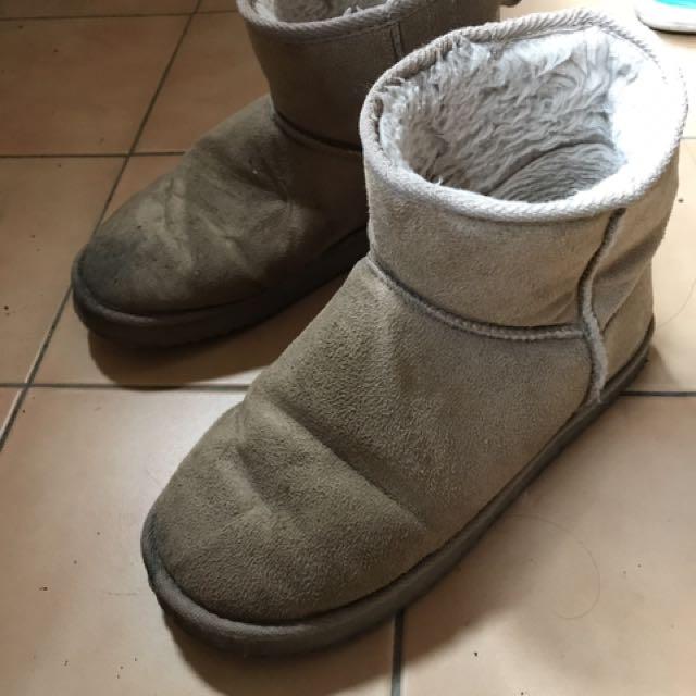 GU 保暖冬天雪靴