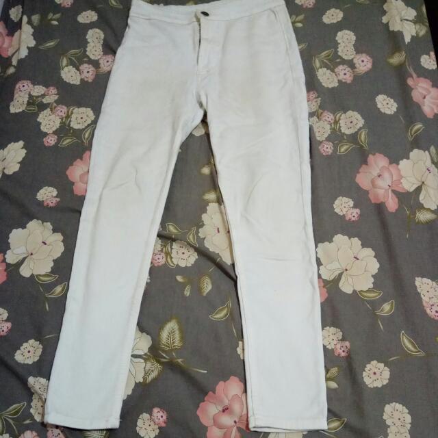 Highwaist White Jeans uk30