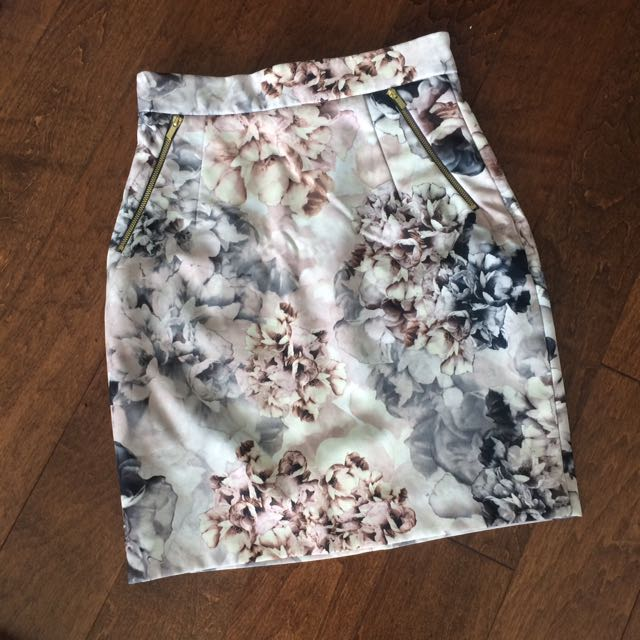 H&M Floral Business Skirt