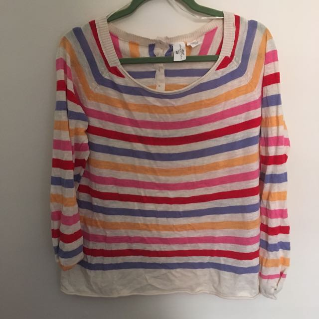 H&M Rainbow Striped Summer Shirt