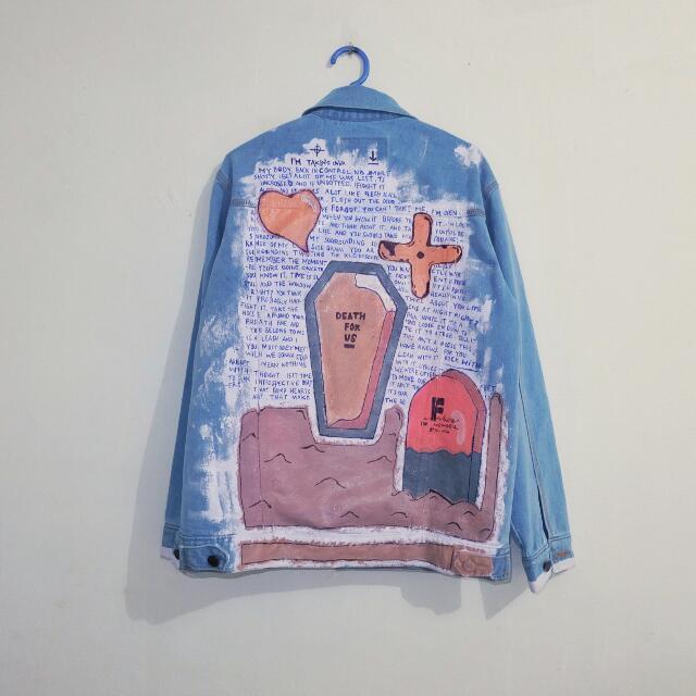 Jaket Jeans Custom Painting