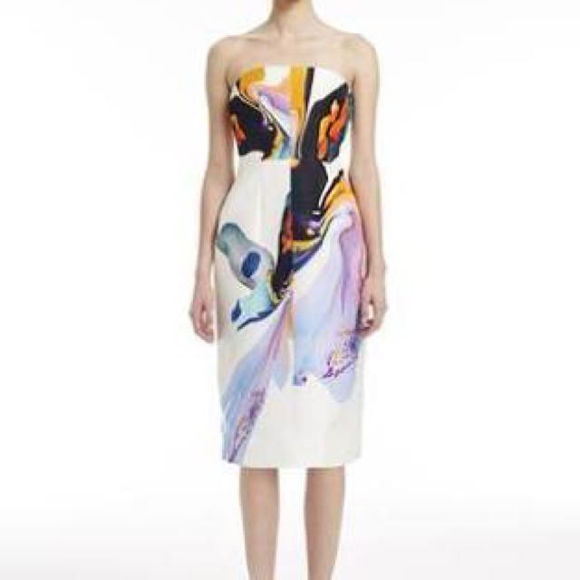 Josh Goot Orchid Strapless Dress SZ 8