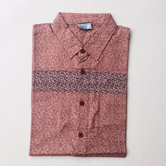 Kemeja Batik Merah Premium Quality