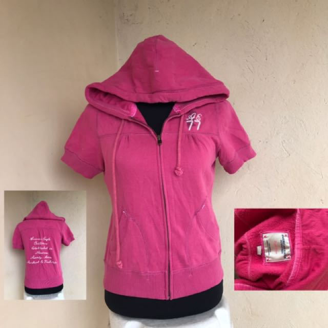 Ladies Full Zip Short Sleeve