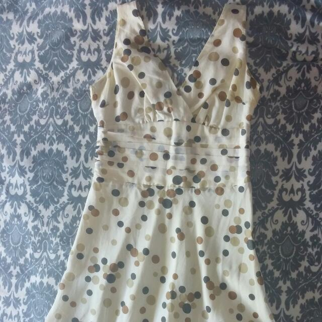 Le Chateau Polka Dot Dress