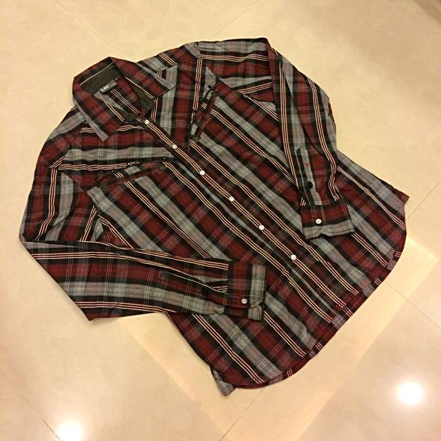 Lee 格紋襯衫 Levi's Wrangler Uniqlo Zara H&M