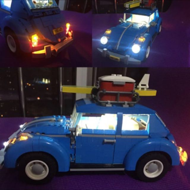 Lighting Kit for LEGO Creator 10252 VW Beetle Construction