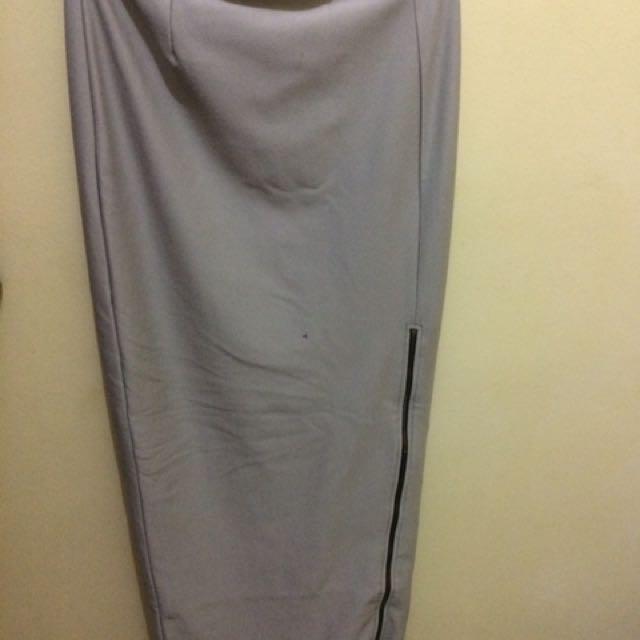 Long Skirt (Ada Resleting Didepan)