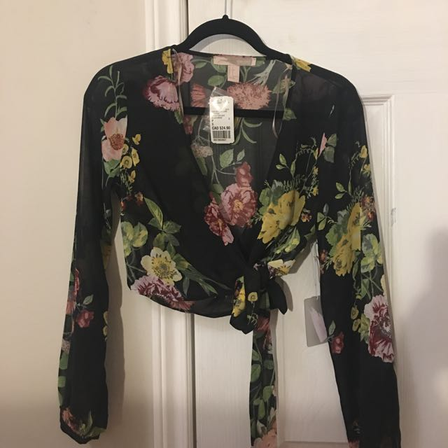 Mesh Floral Top Brand New
