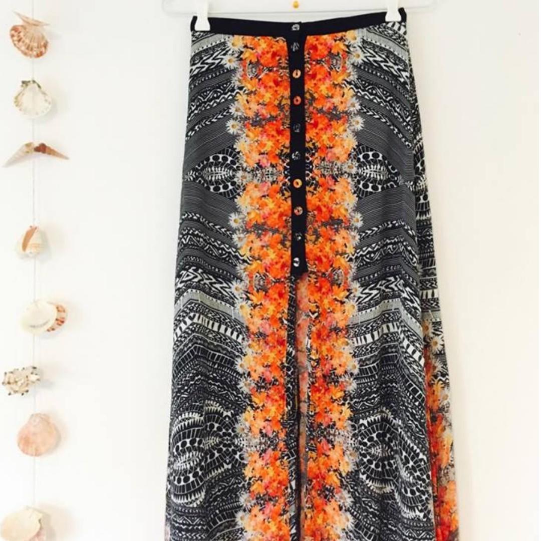 MINK PINK - Maxi front slit skirt
