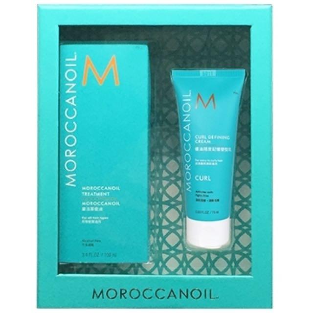 《Moroccan Oil》摩洛哥優油100ml+優油捲度記憶塑型乳75ml
