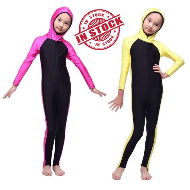 Muslim Malay Girl Swimming Costume Body Suit Swimwear Mw10090