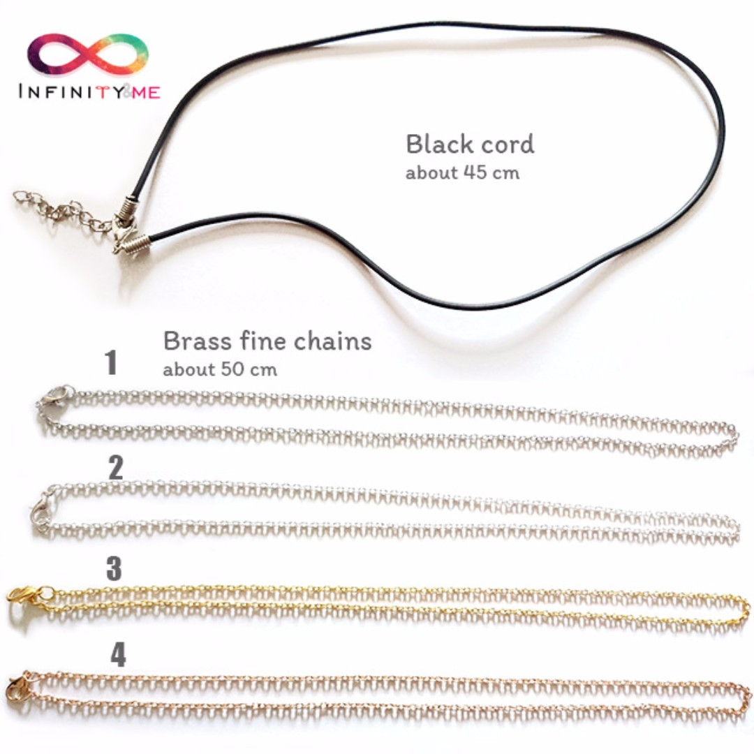 Necklace Chain Choices for all necklaces sold by Infinityandme
