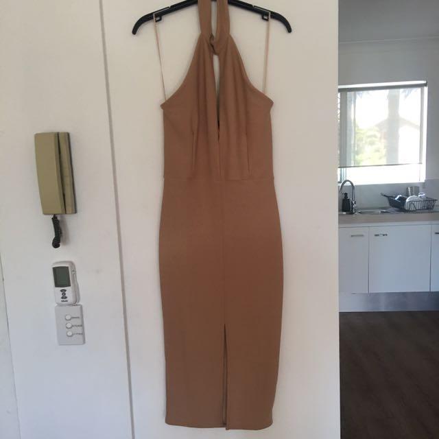 Nude Meshki Dress