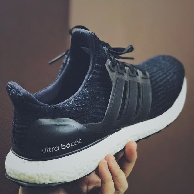 b15d86a98aad4f ORIGINAL Adidas Ultra Boost 3.0 Core Black UK10