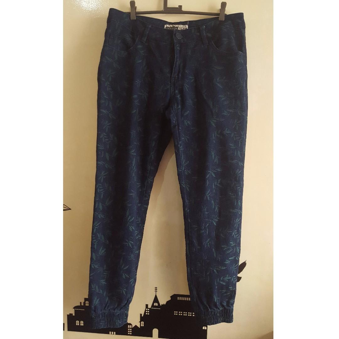 OXYGEN Print DENIM JOGGER PANTS for GUYS MEN Size 31