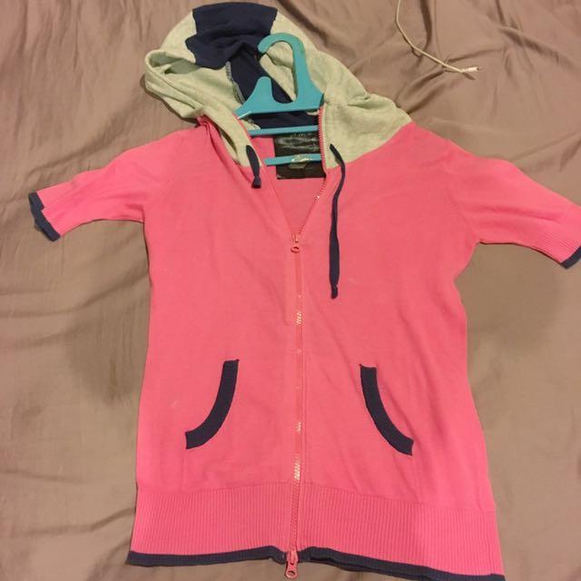 pink sport shirt hoodie