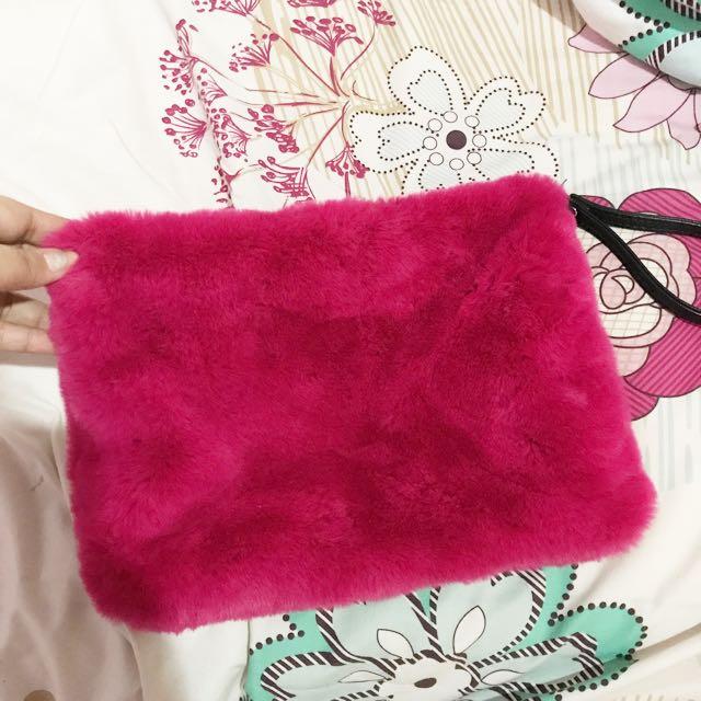 Pouch Pink Bulu-bulu Stradivarious