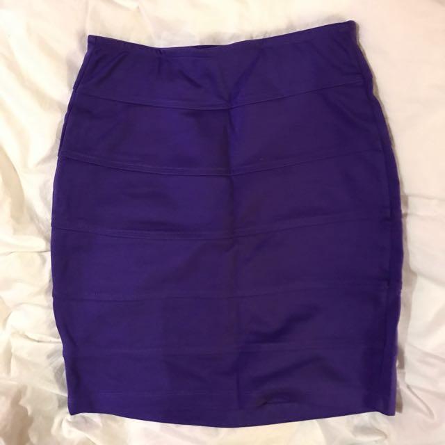 Purple Bandage Skirt
