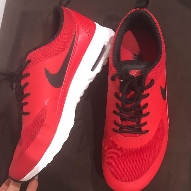 Red and Black Nike Size 7