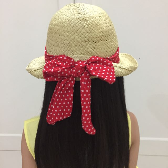 Red Ribbon Hat