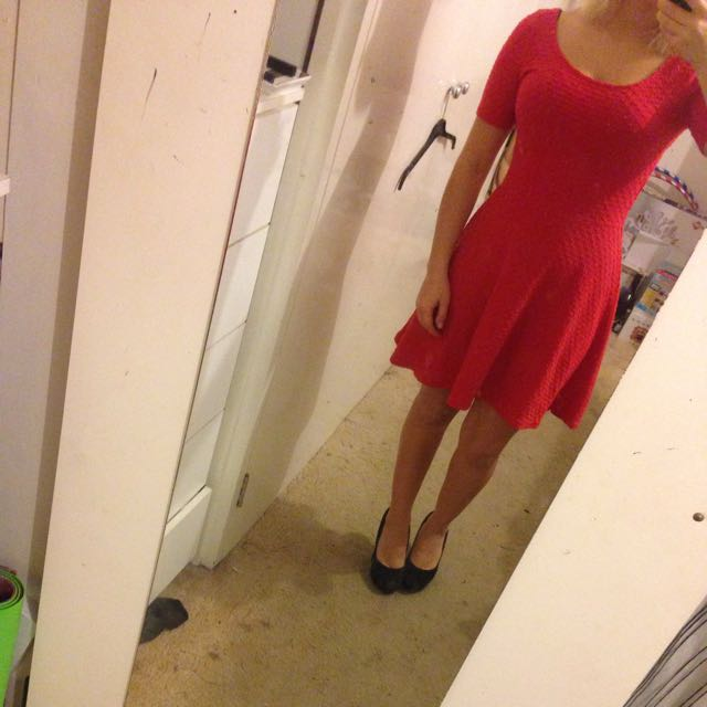 Red Skater Dress Size 6