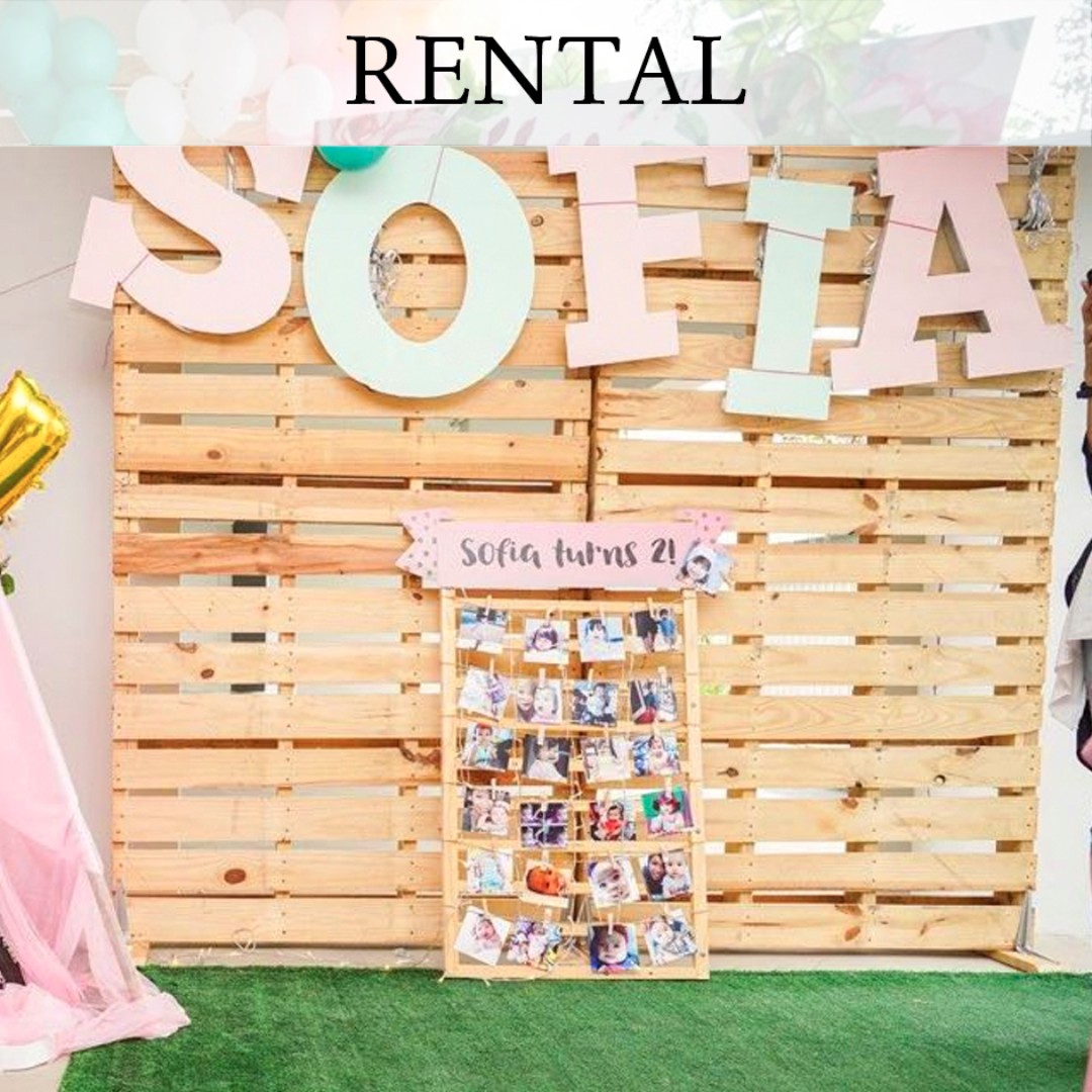 Rental Selling Wooden Pallet Backdrop Design Amp Craft Others On Carousell