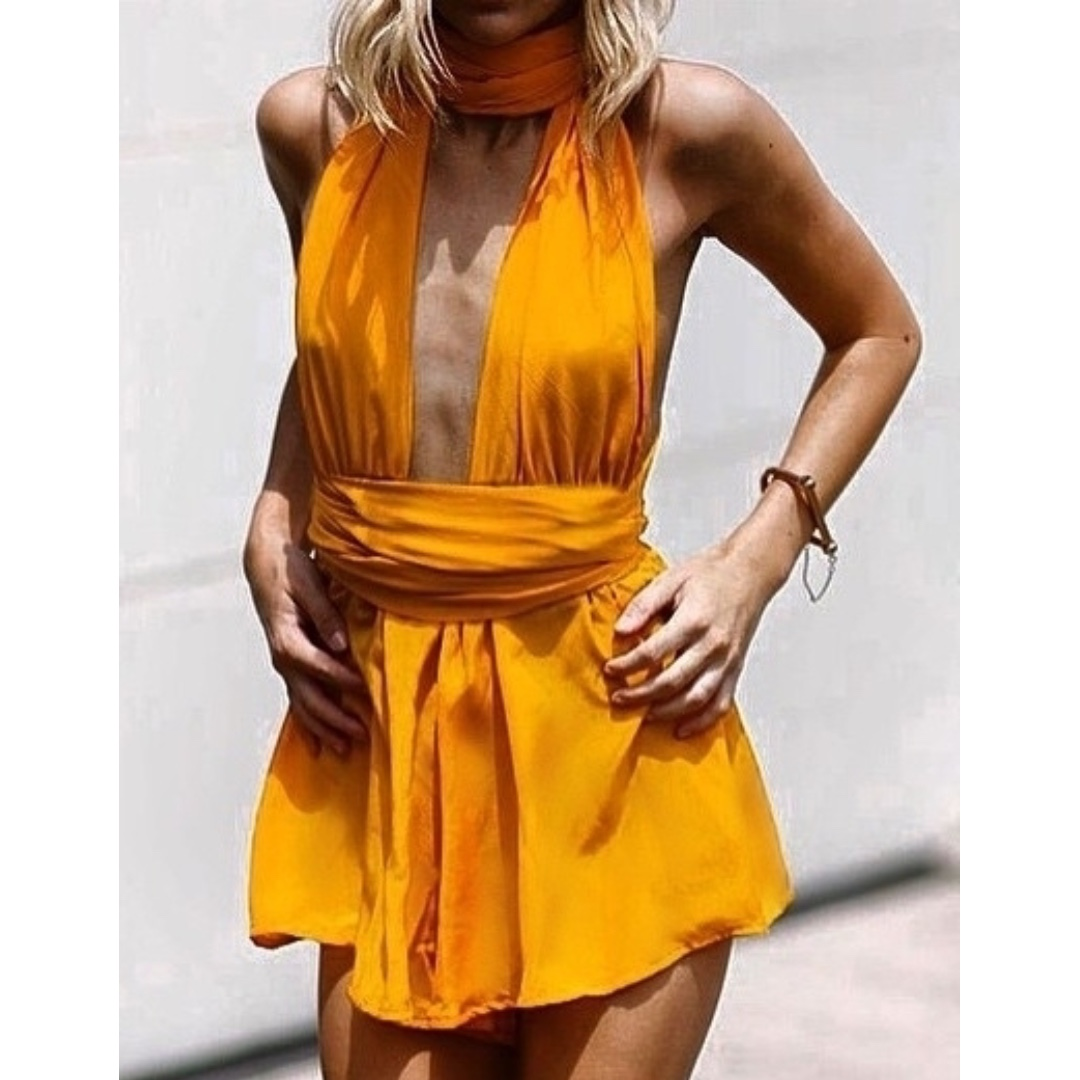 83a67a34d5 Sisters the Label Multiway Playsuit in Tangerine Dream