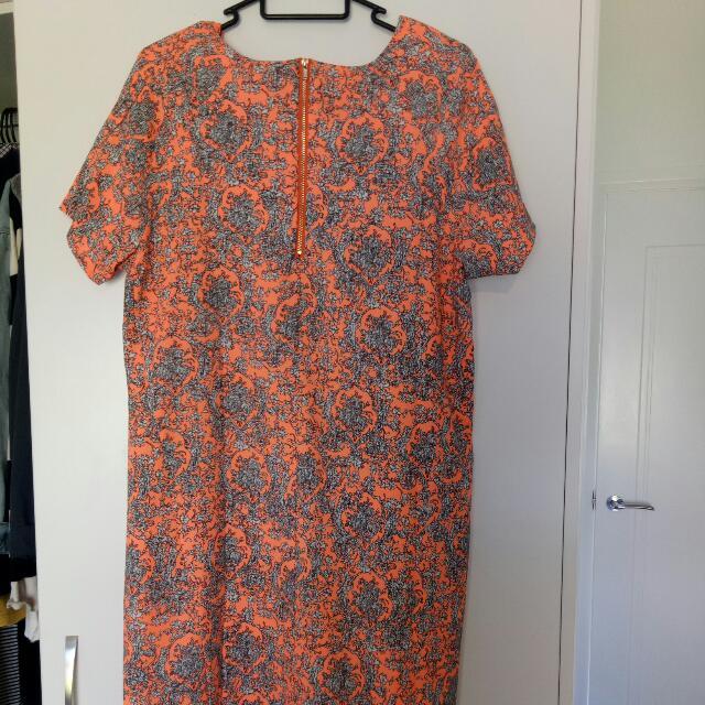 Size 14 Peach Mini Dress