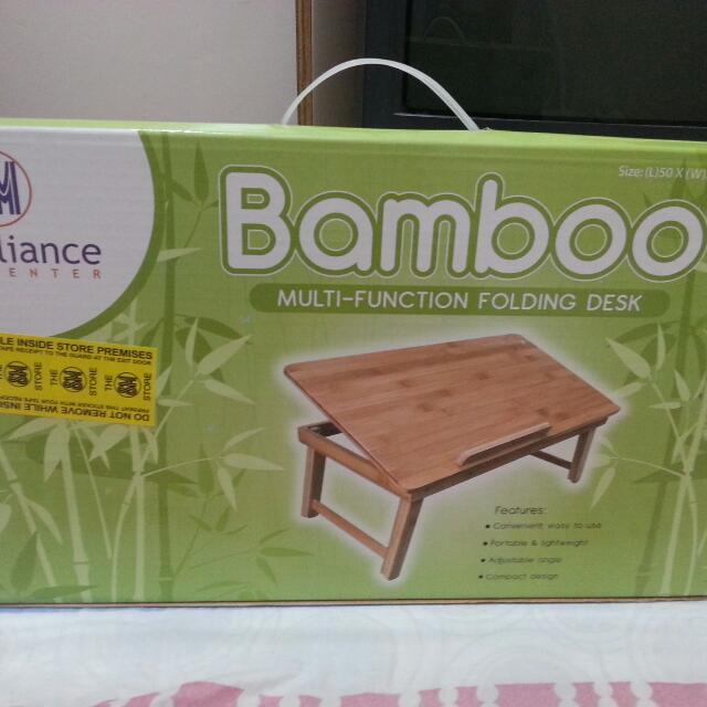 SM Appliance Bamboo Laptop Table