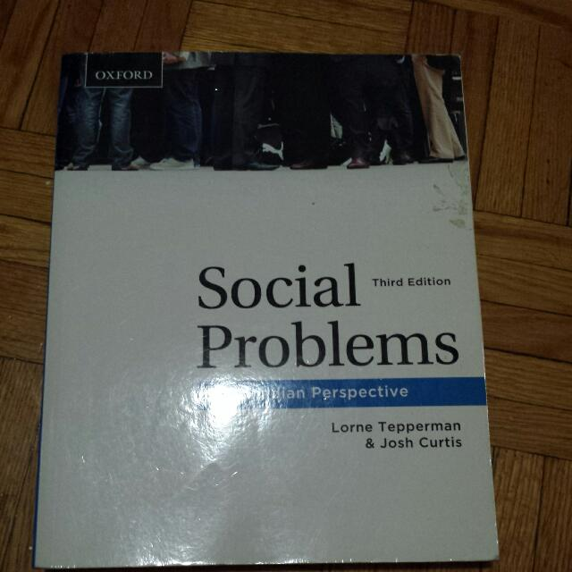 Social Problems (3rd Ed) By Lorne Tepperman And John Curtis (Uoft Sociology Course)