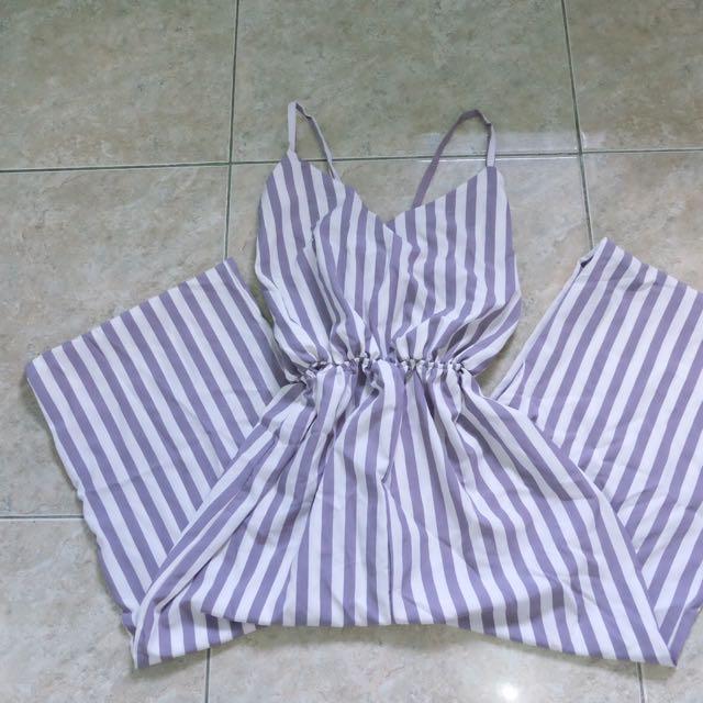 Stripe Jumpsuit Size S