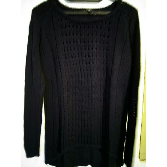 sweater knitt hardware navy (rajut)