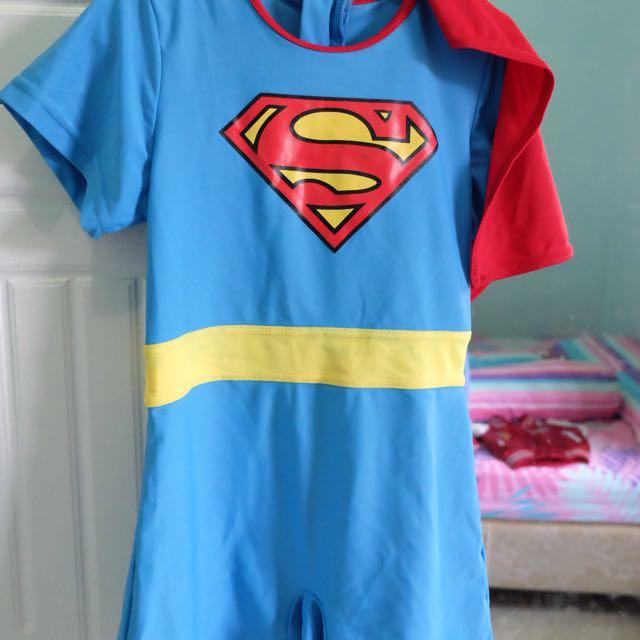 Swimsuit Superman Size 2-4y