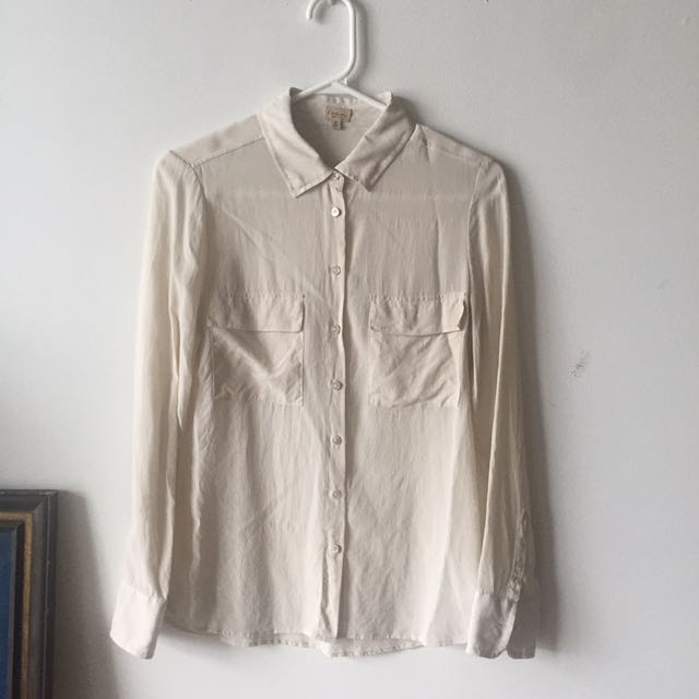 T. Babaton 100% Silk Blouse Xs