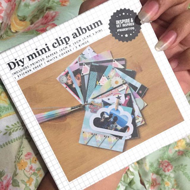 TYPO DIY MINI CLIP ALBUM / BINGKAI FOTO KLIP TYPO