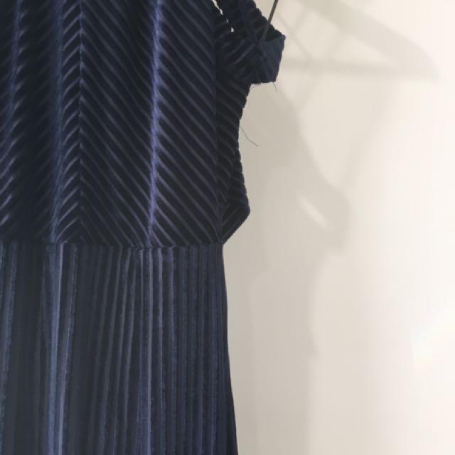 Velvet Stripe Dress